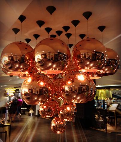 Harrods Copper Dome Lighting Display PM