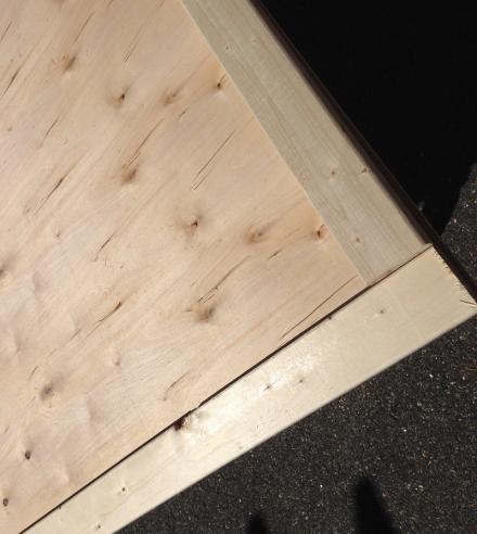 Rusty Bedspring Framing for Board
