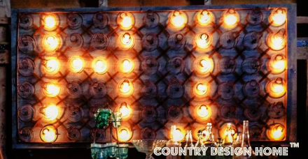 Rusty Bedsprings Marquee Light Closeup PM
