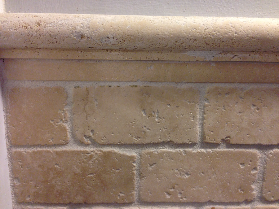 Tile Travertine With Round Molding