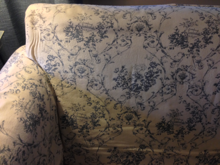 Dyed Sofa Before Floral Print