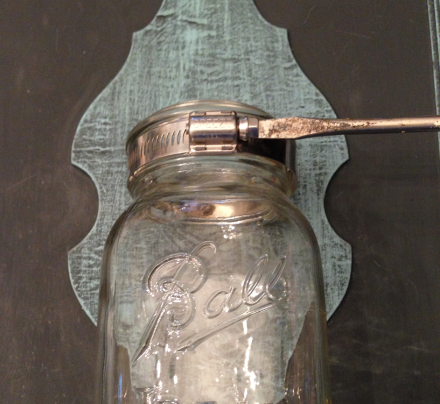 Mason Jar Wall Sconce Adjustable Screw
