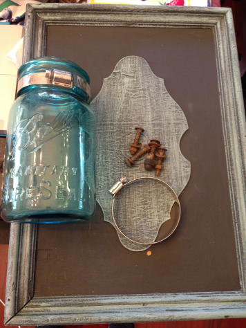 Mason Jar Wall Sconce Supplies