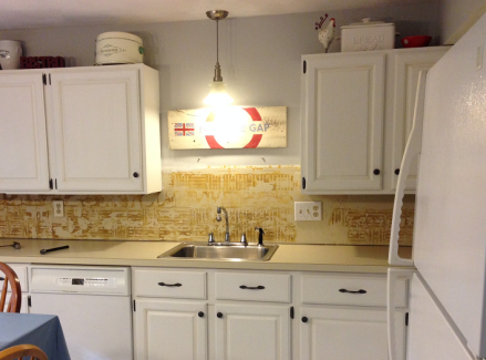 Thrifty Kitchen Makeover Before Crown Installation