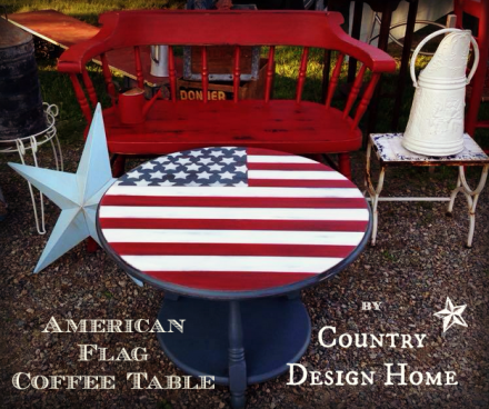 American Flag Coffee Table Logo