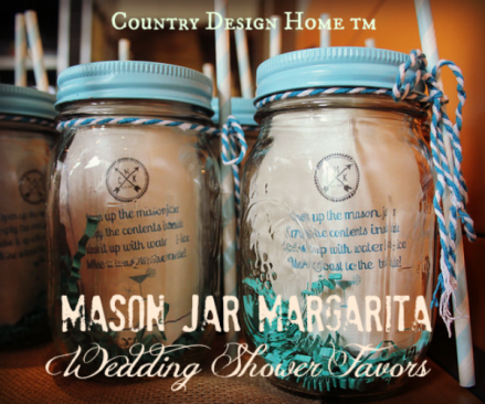 Mason Jar Margarita Wedding Shower Favors