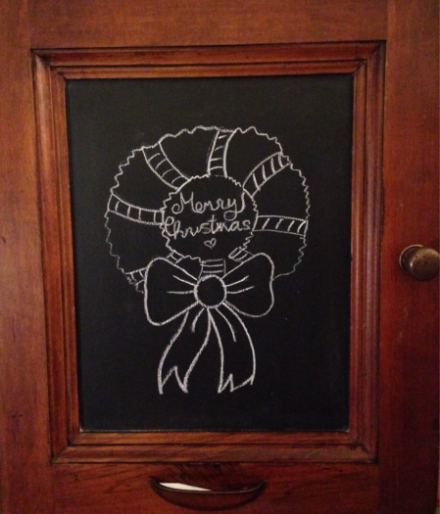 Country Door Chalkboard Mahogany and Copper