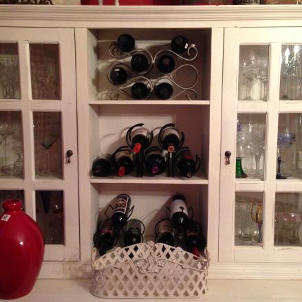 Easter Dinner Wine Bottles
