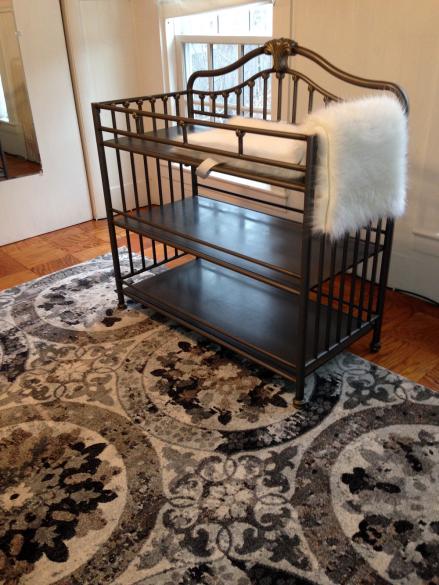 Nana Nursery Changing Table and Sorel Rug Fur