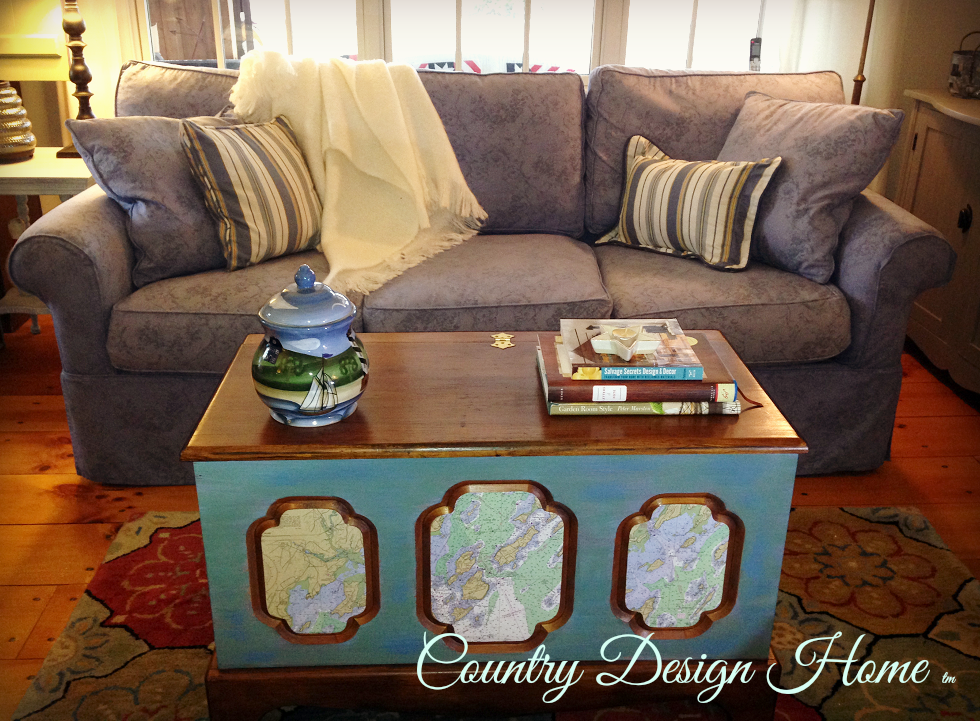 Nautical Trunk Makeover Finished Country Design Home
