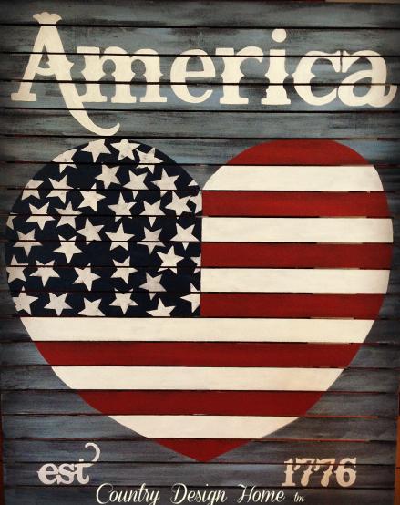 Vintage Americana Heart Logo