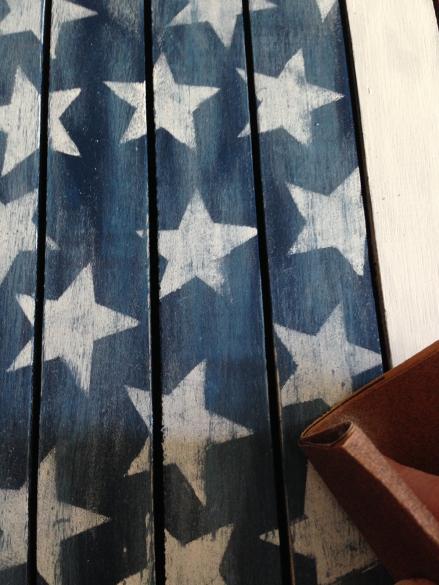 Vintage Americana Heart Sanding Stars Distressing