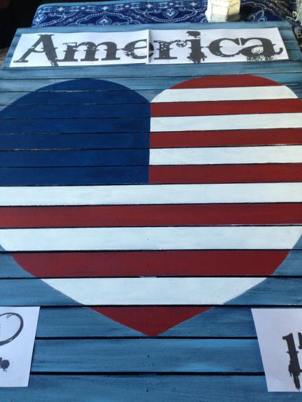 Vintage Americana Heart Template