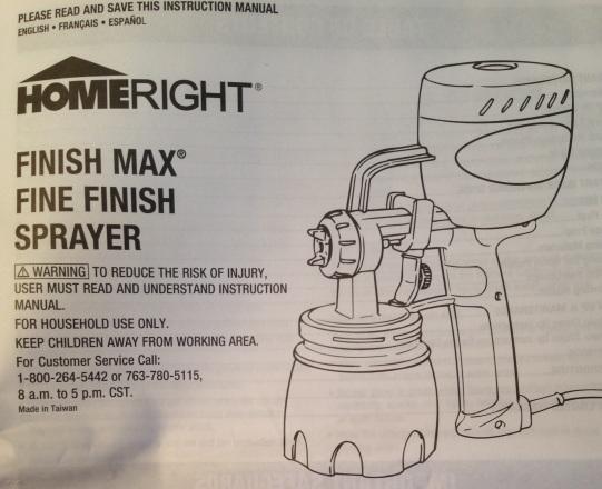 HR Paint Sprayer Manual
