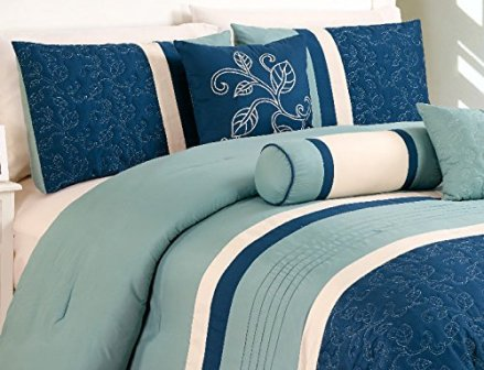 7-piece-queen-luxury-aqua-blue-navy-and-white-comforter-set-8
