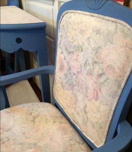 Annie Sloan Greek Blue Painted Chair