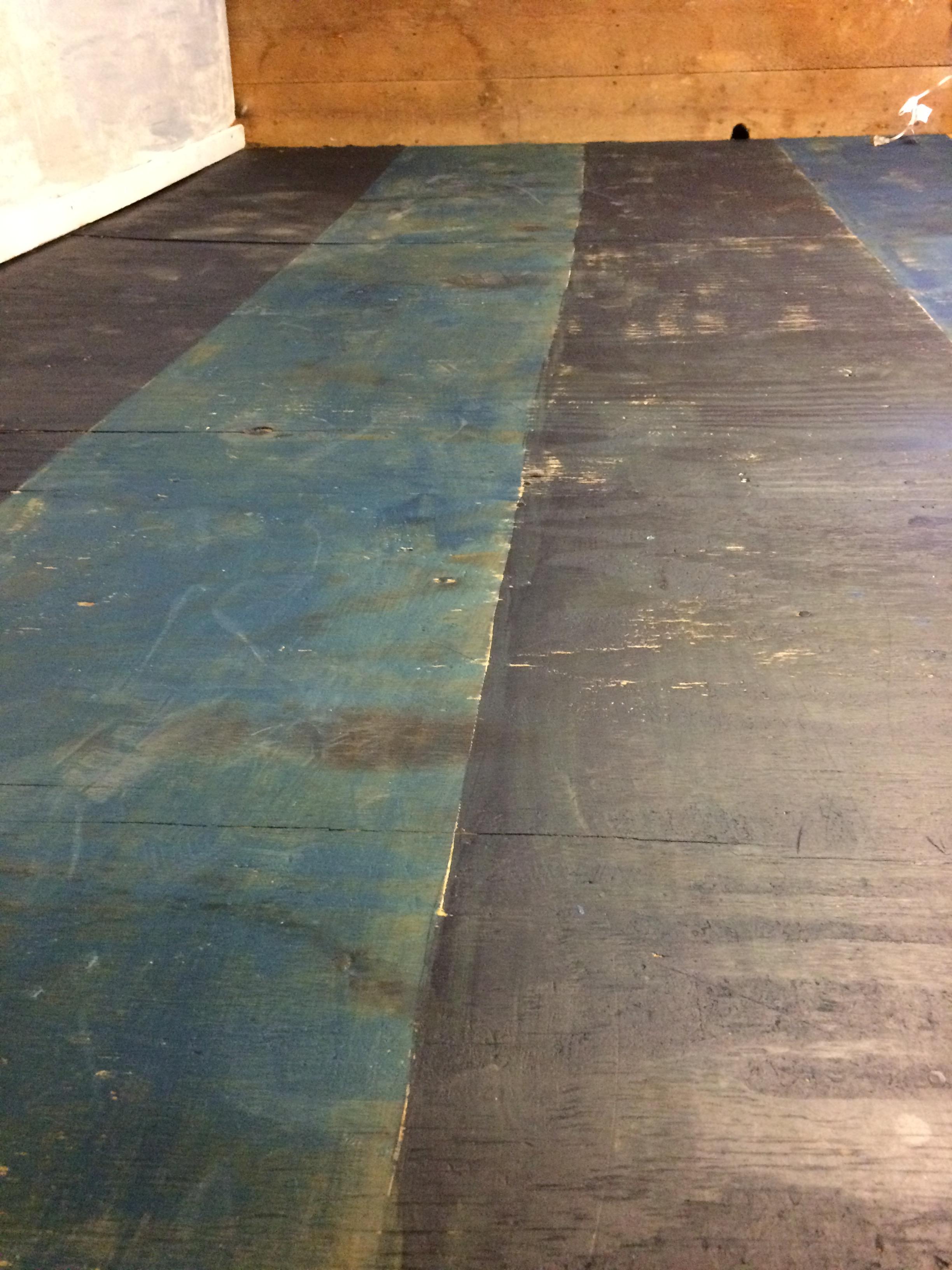 Barn Booth Painted Stripe Flooring