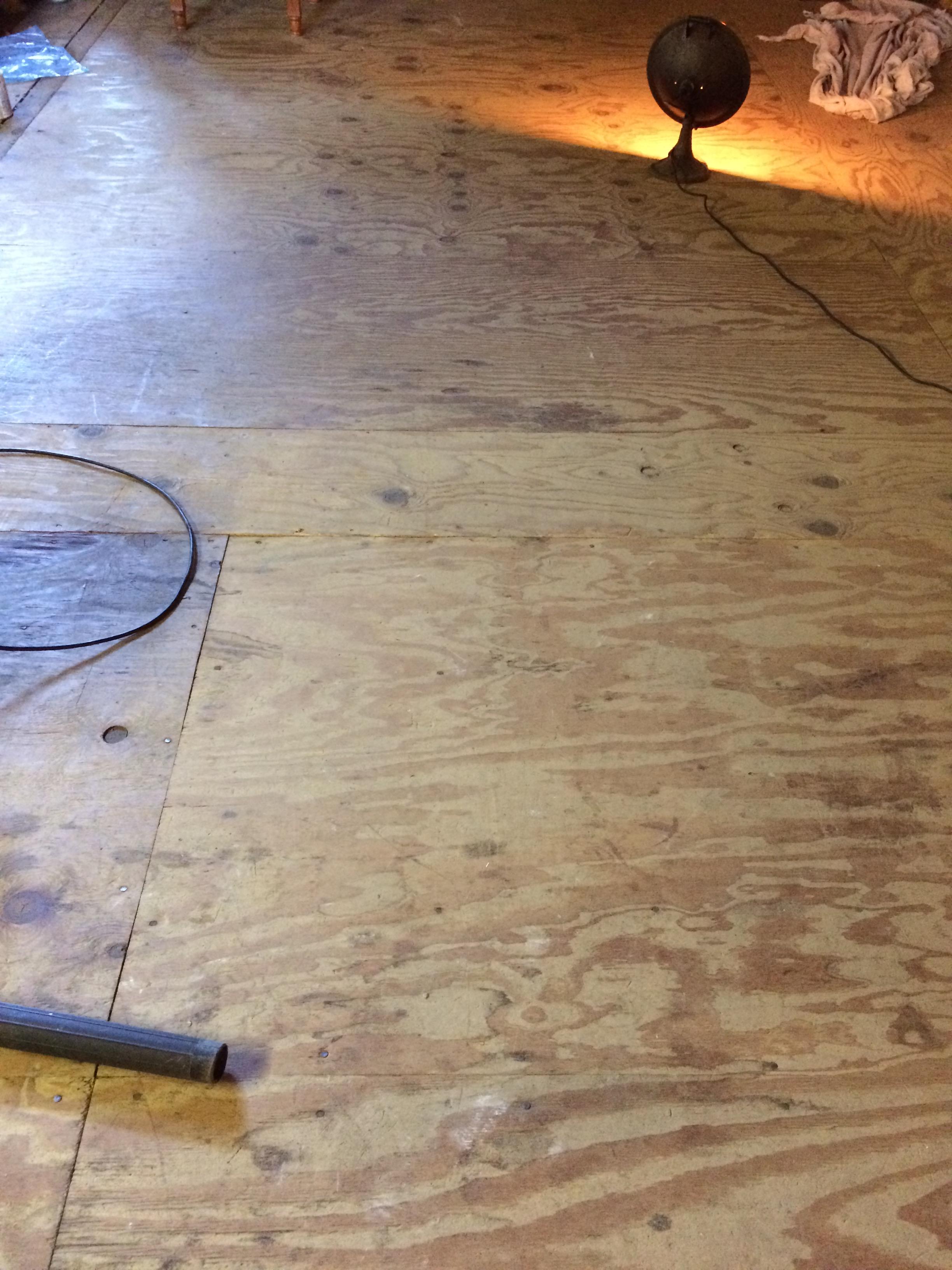 Barn Booth Plywood Plank Flooring