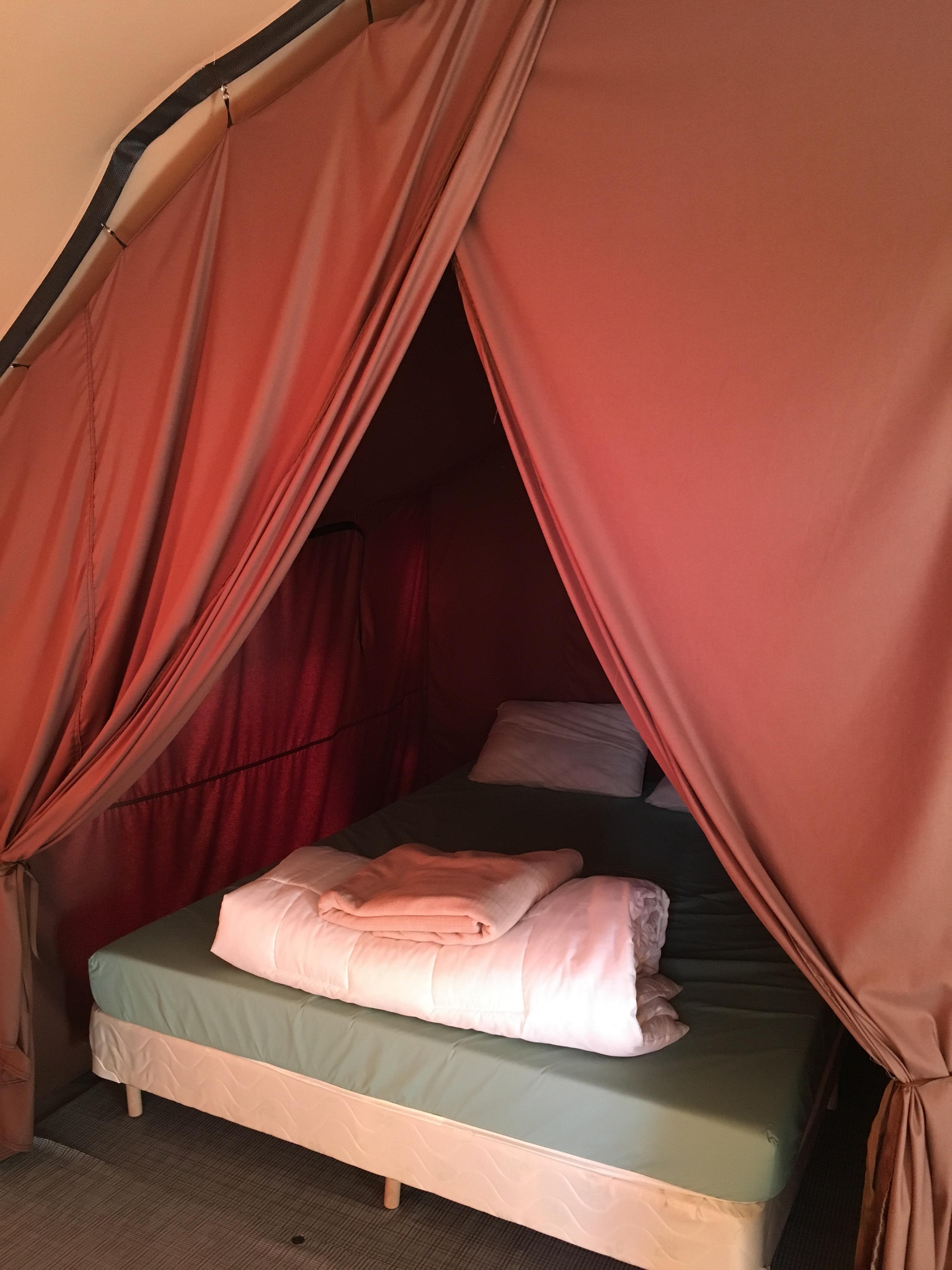 Huttopia Tent Bedroom