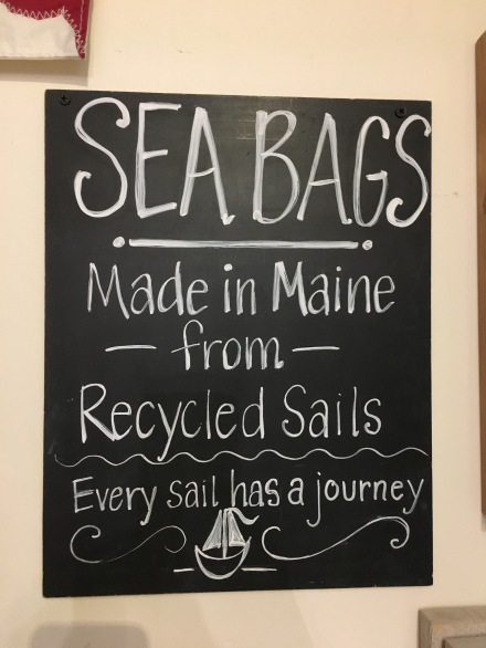 SeaBags Chalk Sign
