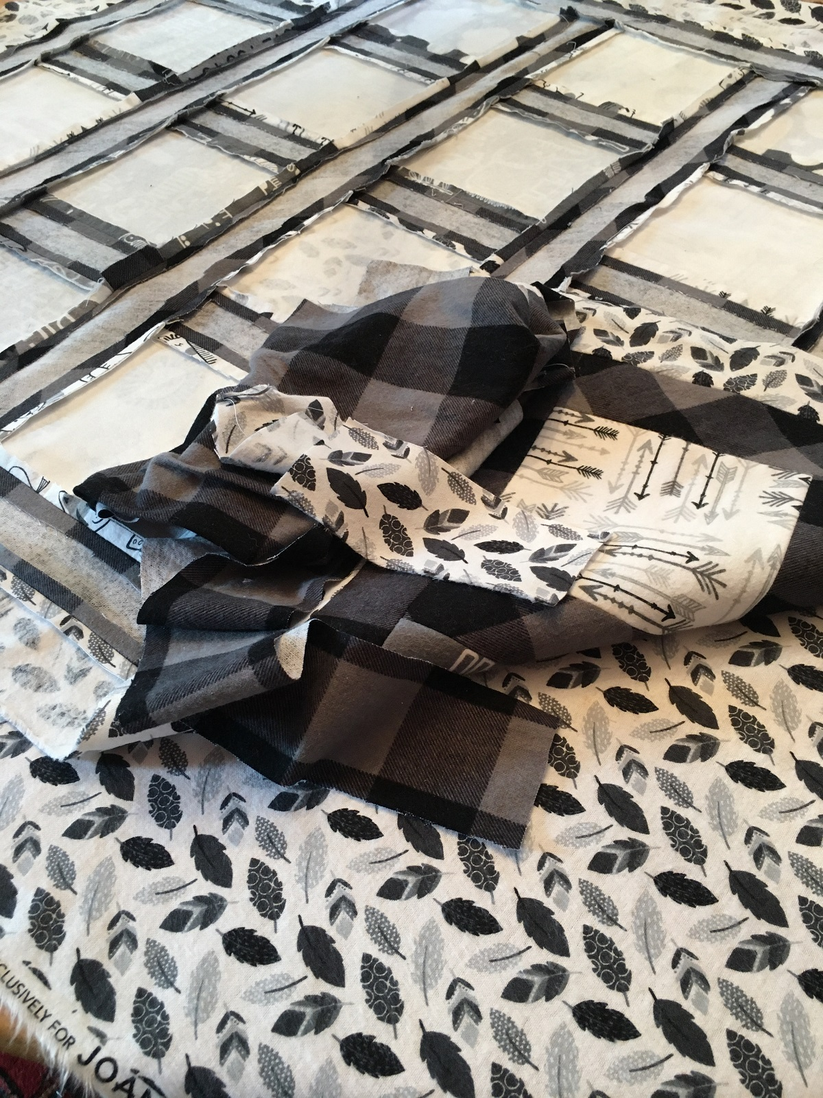 Black and white quilt fabric.JPG