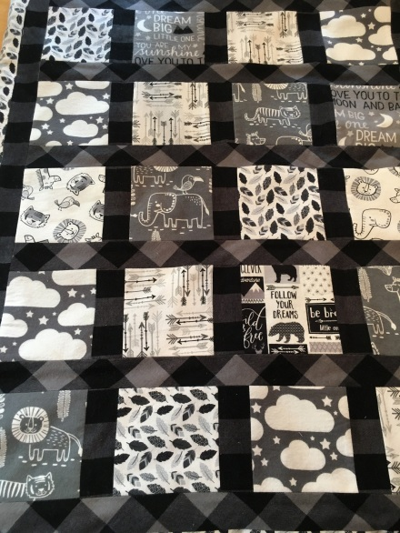 Black and white quilt front
