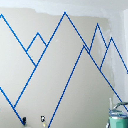 Mountain Mural Taped