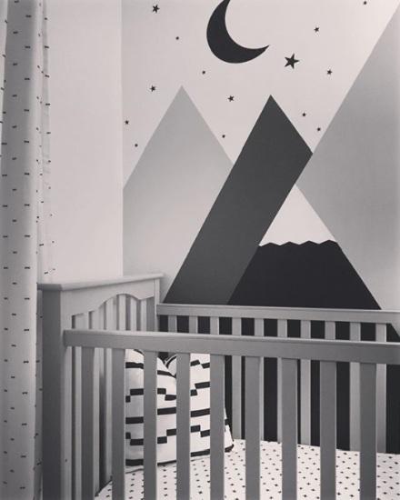 Mural and Crib