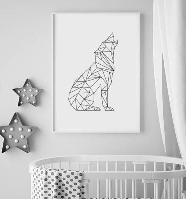 Nursery Wolf Print