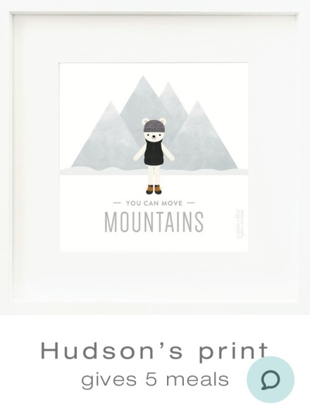 Hudson the Polar Bear Print