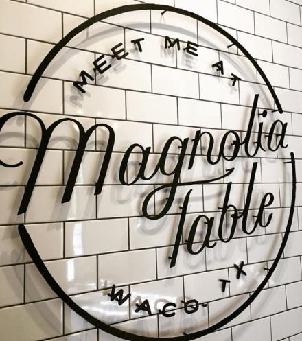 Magnolia Table Sign